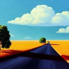 The Long Way SOLD - Oil on Linen 12 x 24 Museum Wrapped