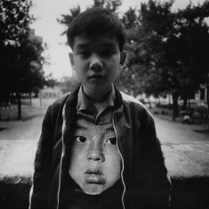 Boy with Chinese Mask - New York, New York, 1972