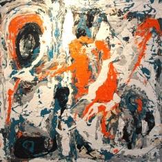Mercer Lobby 2:38am - Oil on Canvas