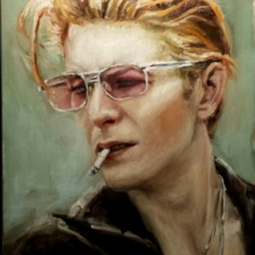 Bowie SOLD - Oil on Canvas 45 x 30