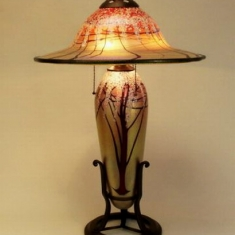 One of a Kind Lamp - Blown Luster Glass