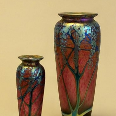 Ruby Wisteria Vases - Three Sizes