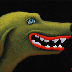 Good Dog SOLD - Acrylic on Board 9 x 12