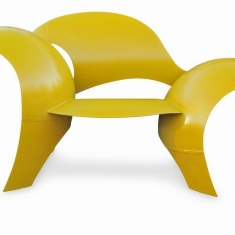 Asymmetric Chair - Powder Coated Chair from Recycled Propane Tank