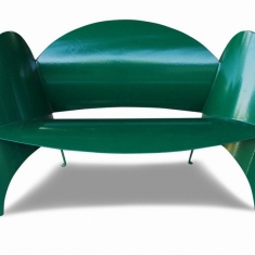 Love Seat - Powder Coated chair made from recycled propane tank