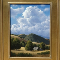 Above Villa Creek SOLD - Oil on Canvas 18 x 22 Framed