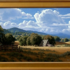 Early Autumn SOLD - Oil on Canvas Framed 30 x 42