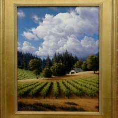 Near St. Helena SOLD - Oil on Canvas 20 x 24 Framed