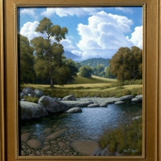 Rock Ground Creek SOLD - Oil on Canvas 18 x 22 Framed