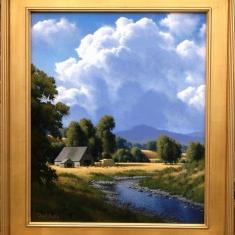 Seasonal Creek SOLD - Oil on Canvas 26 x 30 Framed
