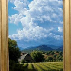 Vineyard Arroyo  SOLD - Oil on Linen 31 x 42.5 Framed