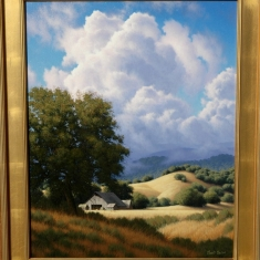 West Of Paso Robles SOLD - Oil On Canvas 30 x 36 Framed