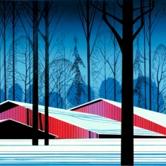 Winter Barns - Serigraph 22 x 35