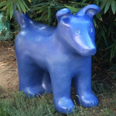 Blue Dog - Ceramic Sculpture Outdoor Sculpture $2000