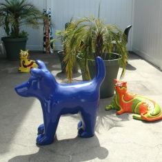 Blue Dog - Outdoor or Indoor Ceramic