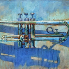 Brass SOLD - Oil on Canvas 30 x 64
