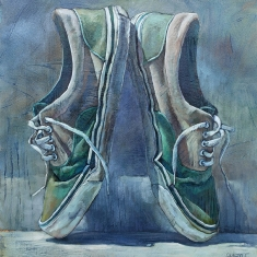 En Pointe Vans SOLD - Oil on Canvas 36 x 34