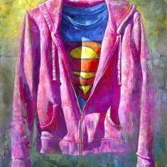 Super Pink-SOLD - Original oil on Canvas 48 x 60