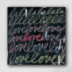 Love Print - Print on Canvas 14 x 14