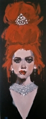 Muse SOLD - Oil on Canvas 16 x 40