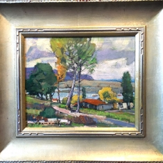 Montana de Oro SOLD - Oil on Linen Hand Crved frame 18.5x16.5