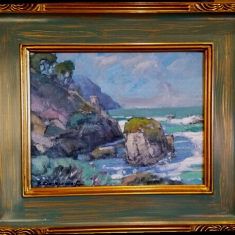 The Tide Is Going Out - Oil on Linen 17 x 21 Framed