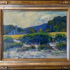 View From Monastery Beach - Oil on Linen 21 x 16 Framed