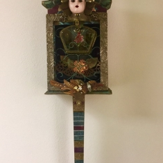 The Devil Made Me Dance SOLD - Wall assemblage 36 x 12 5