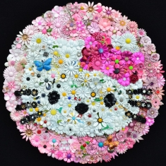 Hello Kitty-EMP Museum Seattle - 32 x 32 Vintage Flower Pins Not available until 2017