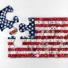 Old Glory SOLD- - Enamel Vintage Flower Pins 31 x 48