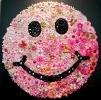 Pink Smiley Face - Original Flower Pins 1960 36 x 36