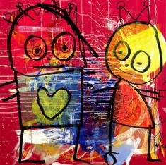 My Heart is Yours - Print on Canvas 36 x 36 or 48 x 48