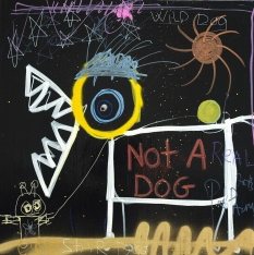 Not a Dog - Print on Canvas 36 x 36 or 48 x 48