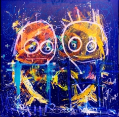 You and Me and Me and You - Print on Canvas 36 x 36 or 48 x 48