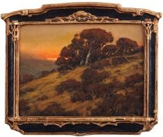 Oak Lore - Oil on Linen Deco Frame 17 x 20.5
