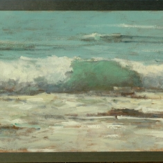 In Between Tides - Acrylic on Canvas 44.5 x 18.5 framed