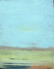Orange and Blue - Oil on Panel 26 x 33