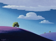 Three on a Hillside SOLD - Oil on Canvas 18 x 24