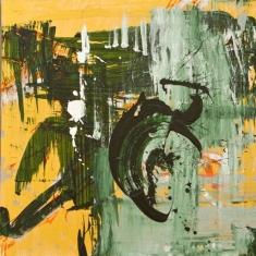 Teas House Moon - Oil on Canvas 48 x 48