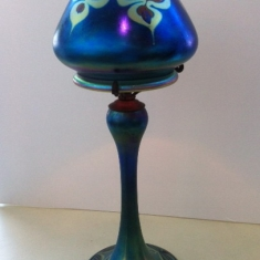 Blue Luster Lamp - 20 inches