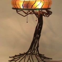 Cypress Lamp  - 2013 23 x 13 Luster Glass and Bronze