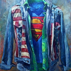 Broad Shoulders SOLD - Oil on Canvas 63 x 48
