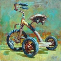 Easy Rider SOLD - Oil oil Canvas 30 x 30