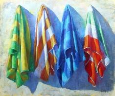 Hangin - Original Oil on Canvas 48 x 57