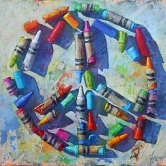 Peace  - Print on Canvas 44 x 47 Edition 40