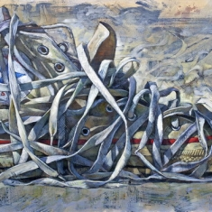 Tongue Tied SOLD - Oil on Canvas 48 x 78 Unframed