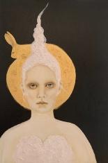 My Bunny SOLD - Acrylic on Canvas 24 x 36