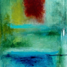 Faith SOLD - Eco Friendly Mixed Media on Organic Canvas 24 x 60