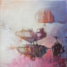 Love You Like SOLD - Oil on canvas museum wrapped 6 x 6