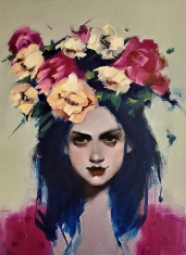Flower Crown SOLD - Oil on Canvas 16 x 20